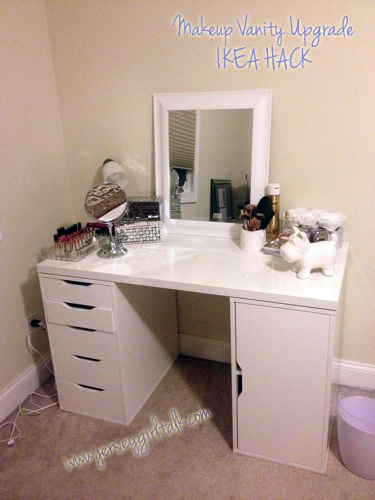 diy makeup vanity desk set up alex ikea hack vanity girl rh jerseygirltalk com Cheap Reception Desk Cheap Reception Desk