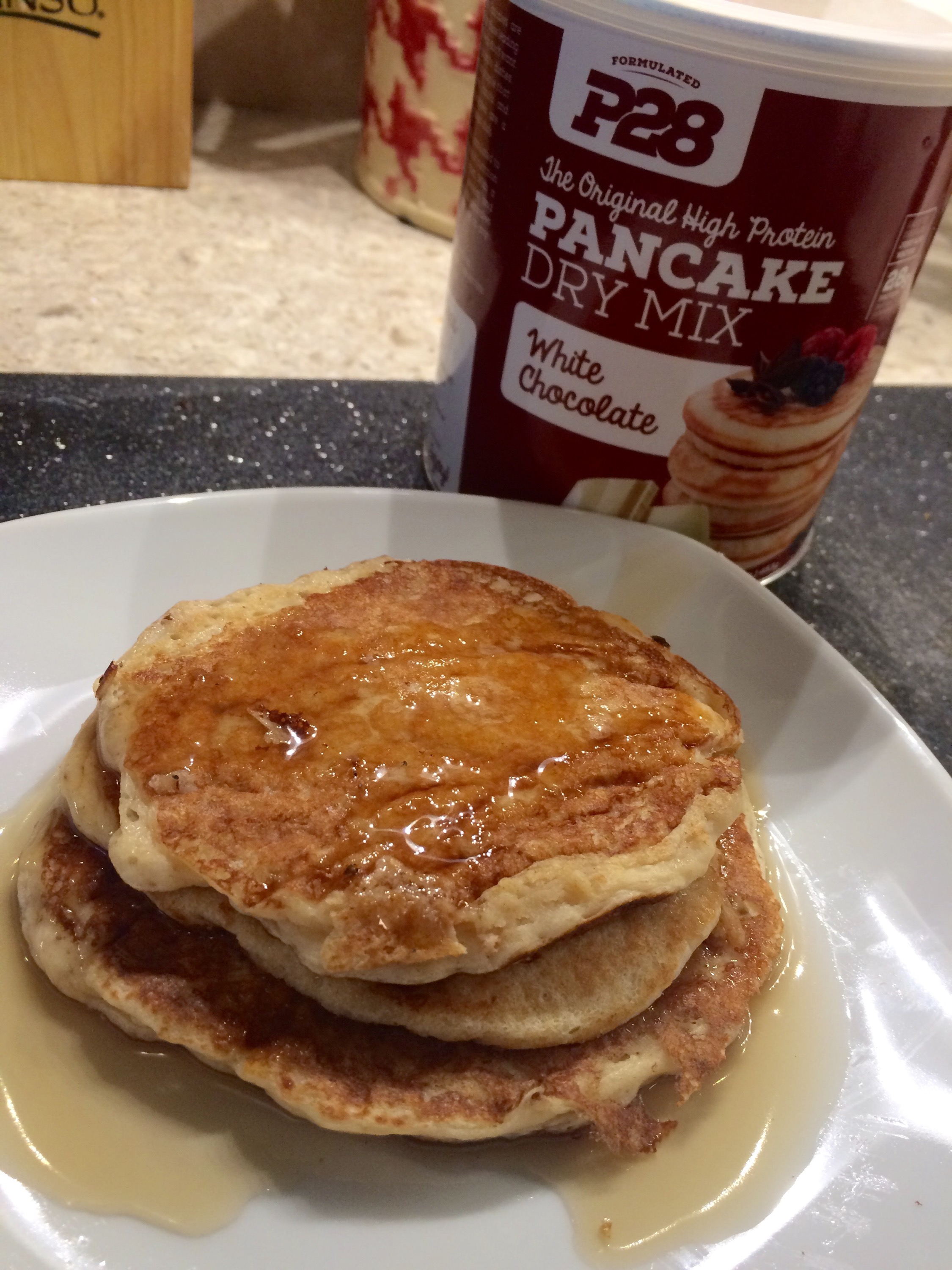 Protein pancakes using p28 foods white chocolate mix img0117 0g ccuart Gallery