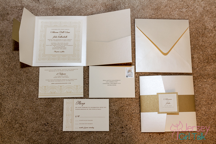 How To Decorate Your Wedding Invitations Gold And Champagne Diy